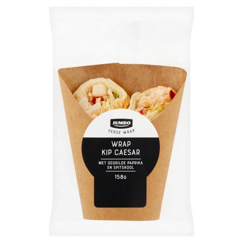 Jumbo Verse Wrap Kip Caesar met Gegrilde Paprika en Spitskool 158 g (158g)
