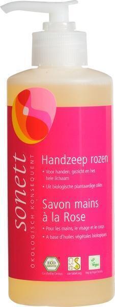 Handzeep rozen + pompje (30cl)