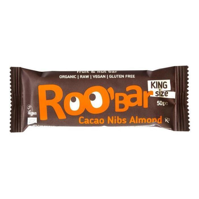 Roo'Bar Cacao nibs & almonds bio (50g)