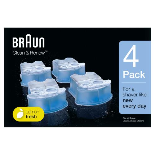 Braun Clean & Renew Reinigingsvloeistof Scheerapparaat 4-pack