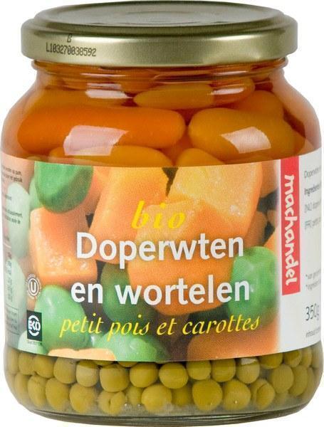 Doperwten en wortelen (pot, 660g)
