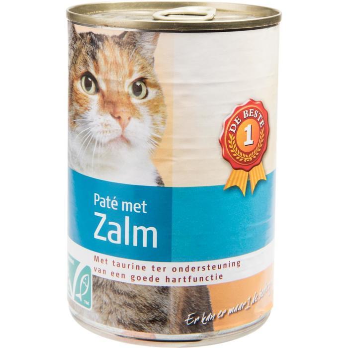 Kattenvoer paté zalm (400g)