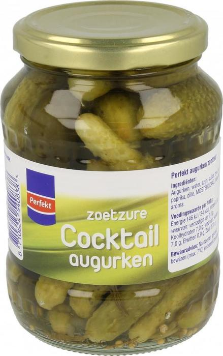 Zoetzure Cocktail augurken (pot, 340g)