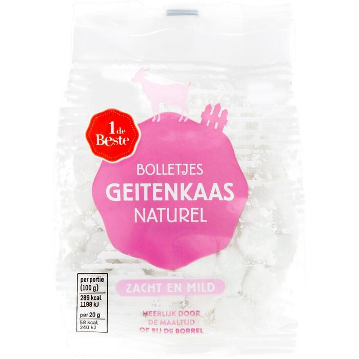Verse geitenkaas bolletjes naturel (100g)