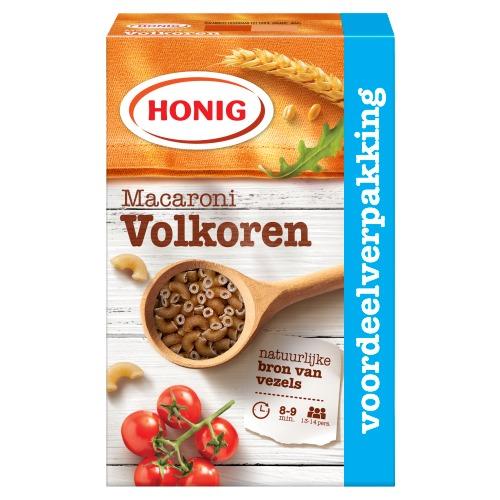 Honig Deegwaar Macaroni Volkoren 1000 g Doos (1kg)