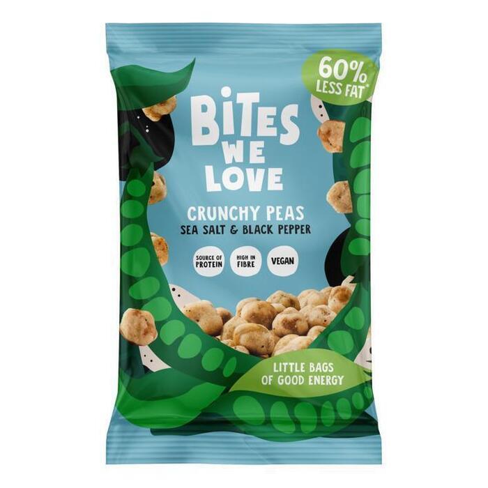 BitesWeLove Crunchy peas seasalt & black pepper (30g)