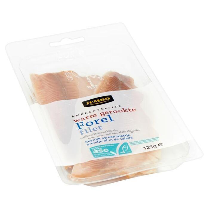 Ambachtelijke Warm Gerookte Forel Filet (bak, 125g)