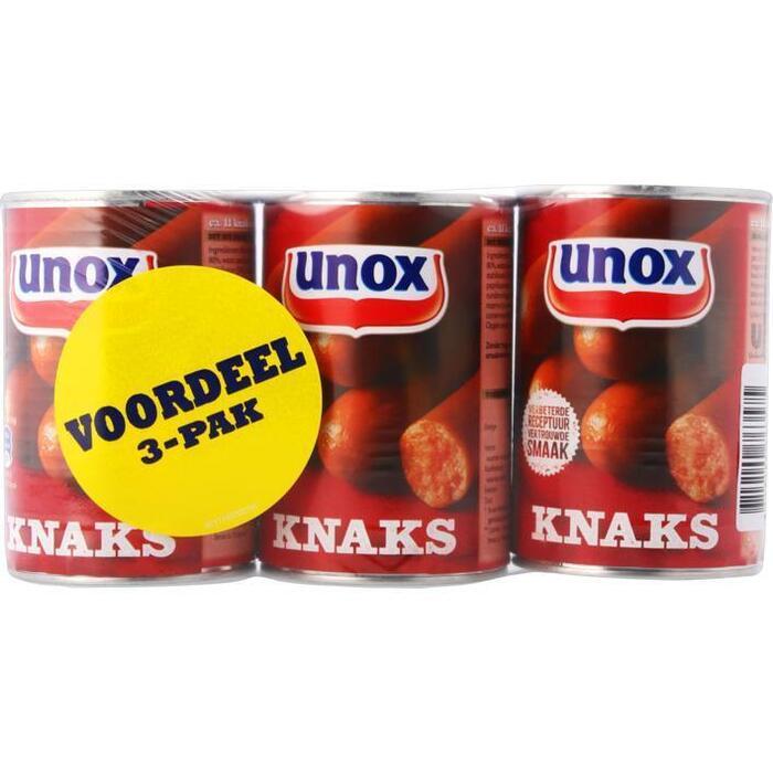 Unox Worst knaks 3-pak (400g)