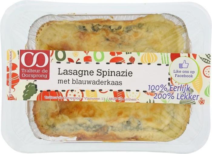 Lasagne spinazie blauwader kaas (350g)