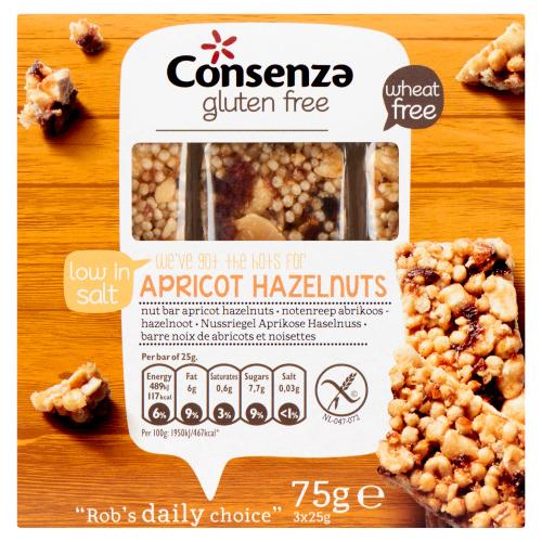 Notenreep abrikozen-hazelnoot (25g)