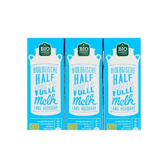 Jumbo Biologische Halfvolle Melk 200 ml (3 × 200ml)