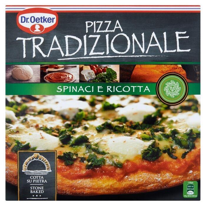 Dr. Oetker Pizza Tradizionale Spinaci e Ricotta 405 g (Stuk, 405g)