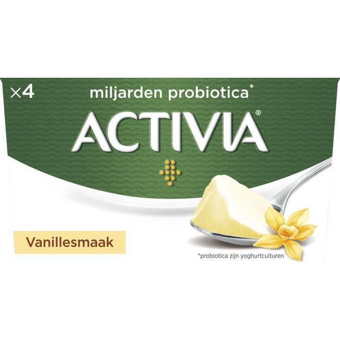 Activia Vanille stand (4 × 125g)