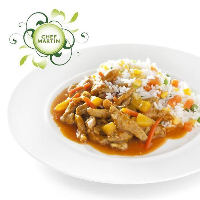 Chef Martin Babi pangang met witte rijst en groenten (505g)