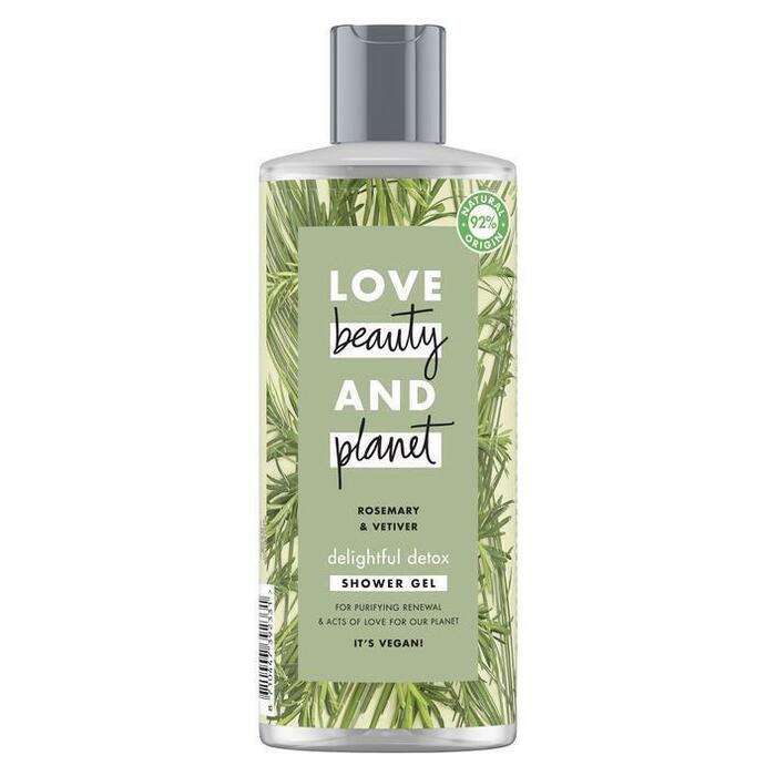 Love Beauty Planet Rosemary & vetiver showergel (0.5L)