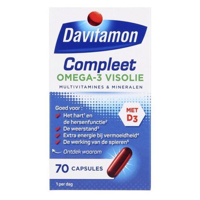 Davitamon Compleet omega-3 visolie capsules (70 × 74g)