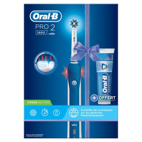 Oral B Pro 2 2800 Elektrische Tandenborstel Powered By Braun Pro Expert Tandpasta