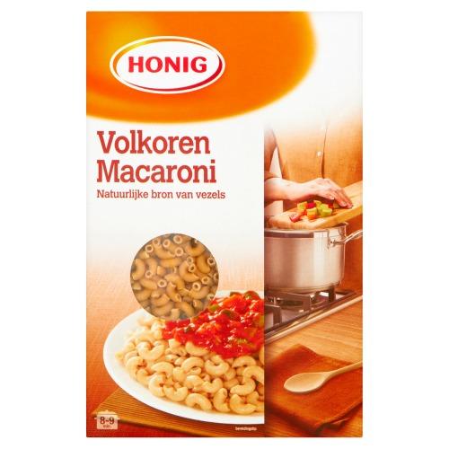 Honig Macaroni volkoren (pak, 500g)