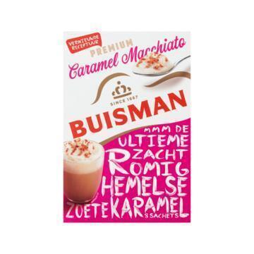 Buisman Oploskoffie portieverpakking café au caramel (136g)