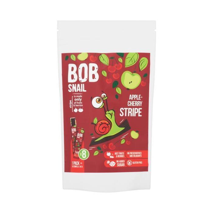 Bob Snail Appel en Kersen Fruitstrips 8 x 14 g (8 × 14g)