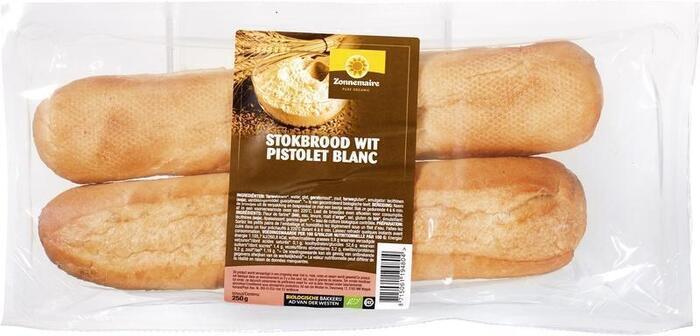 Stokbrood wit (zak, 2 stuks) (300g)