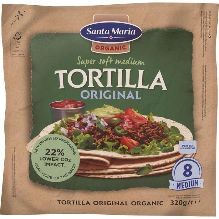 Santa Maria Organic original tortilla (320g)