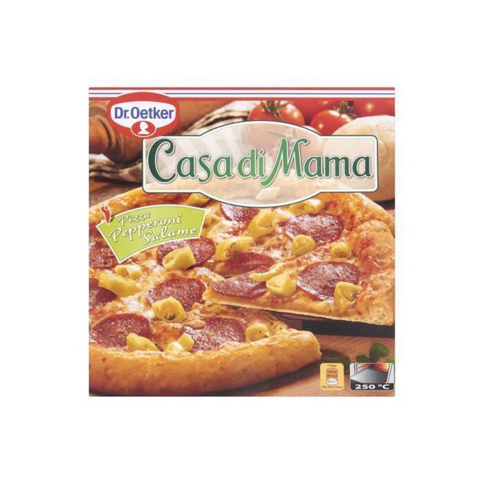 Casa di Mama Pizza Pepperoni Salame (doos, 415g)