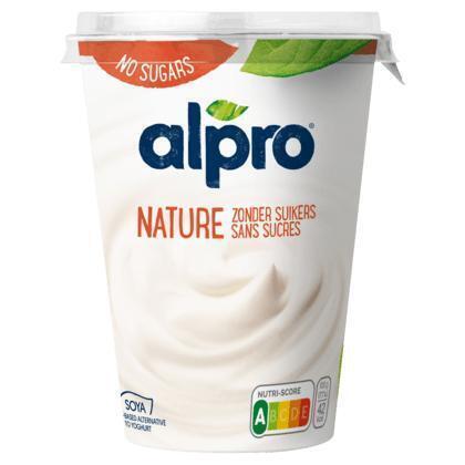 Alpro Plantaardige Variatie op Yoghurt Naturel Ongezoet 500 g (500g)