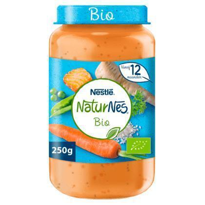 NaturNes Groenten rijst zalm 12+ mnd babyvoeding (250g)