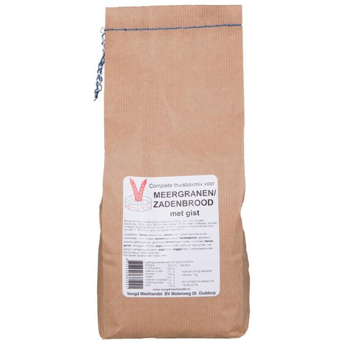 Thuisbakmix voor meergranen/zadenbrood met gist (zak, 1kg)