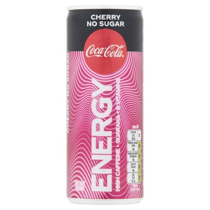 Coca-Cola Energy Cherry No Sugar 250 ml (rol, 25 × 250ml)
