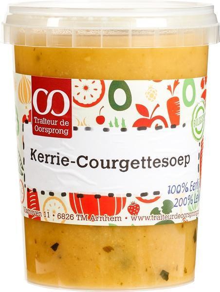Kerrie courgette soep (0.5L)