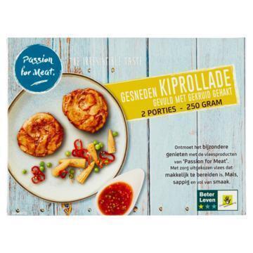 Passion for Meat Gesneden Kiprollade Gevuld met Gekruid Gehakt 250 g (250g)