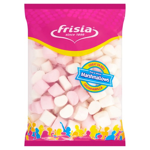 Frisia Pink&white marshmallows 1kg zakje (1kg)
