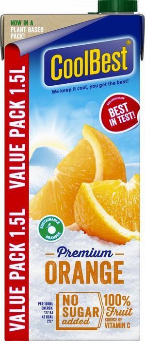 Gekoeld sap orange voordeelpak (Stuk, 1.5L)