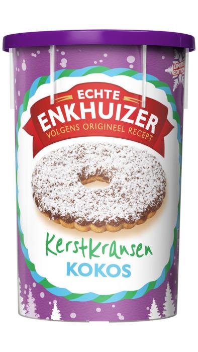 Echte Enkhuizer Jodekoek kerstkrans kokos (15 × 22.4g)