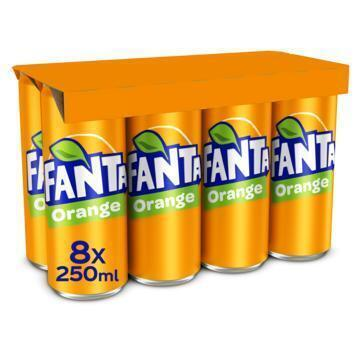Fanta Fanta Orange (rol, 8 × 250ml)