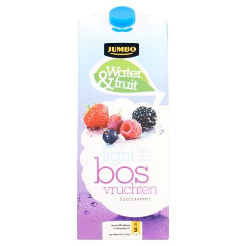 Jumbo Water & Fruit Light Bosvruchten Koolzuurvrij 1500ml (1.5L)