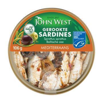 John West Petit sardines Mediterraans (106g)