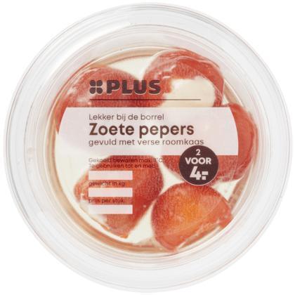 Sweet peppers roomkaas (120g)