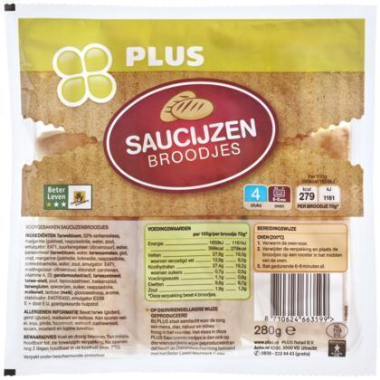 Saucijzenbrood (4 st.)