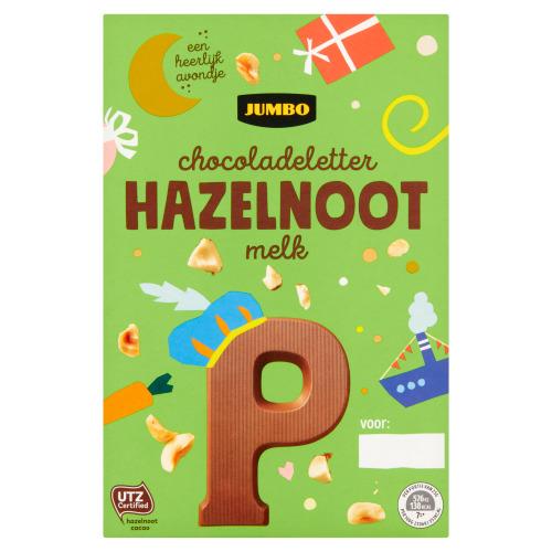 Jumbo Hazelnoot Melkchocolade Letter P 135 g (135g)