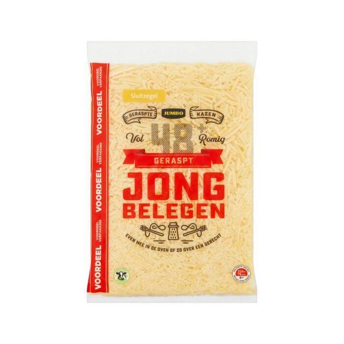 Jumbo Geraspt Kaas Jong Belegen 48+ Voordeelverpakking 300 g (300g)