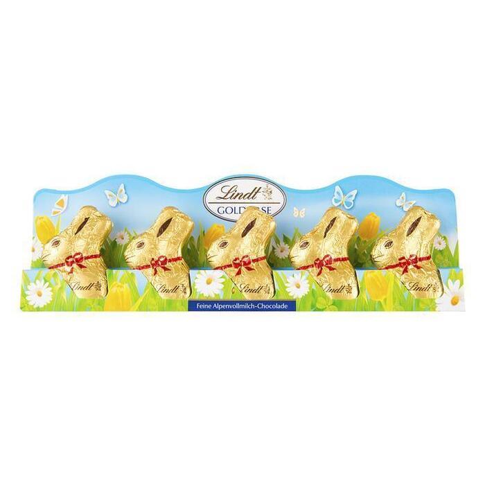 Gouden haasjes melkchocolade (50g)