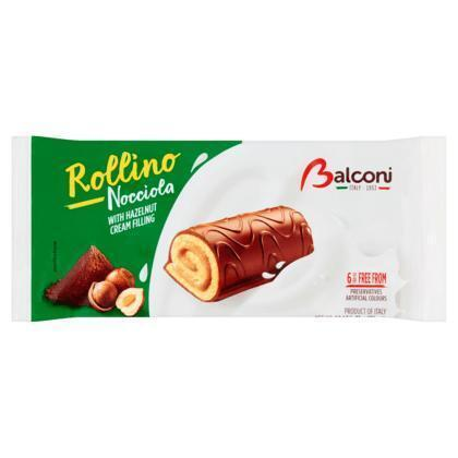 Balconi Rollino Nocciola with Hazelnut Cream Filling 6 x 37 g (250g)