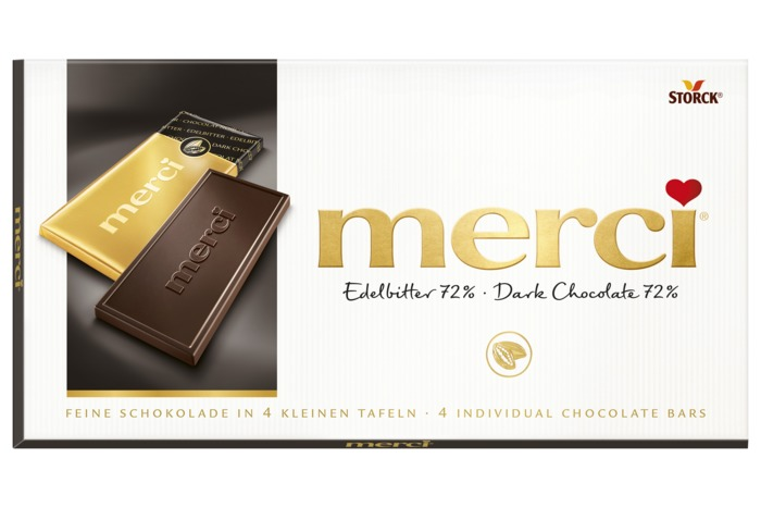 MERCI tablet puur Chocoladeproducten / bon bons / bit 100 g doos (100g)