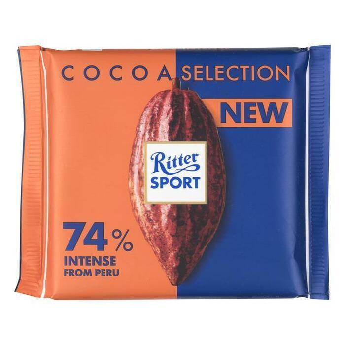 Ritter Sport Cacao selection 74% Peru krachtig (wikkel, 100g)