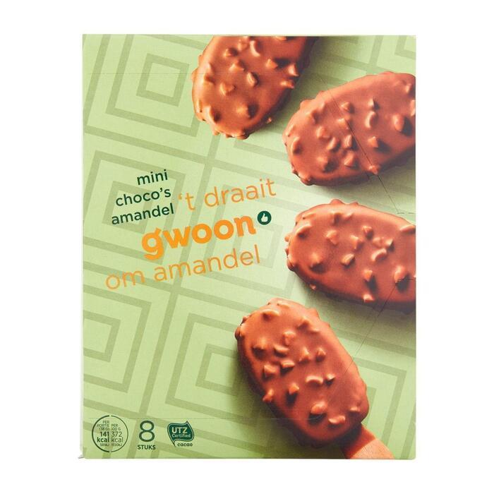 g'woon mini choco's amandel (304g)