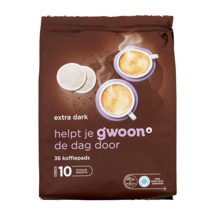 g'woon Koffiepads extra dark (36 × 252g)