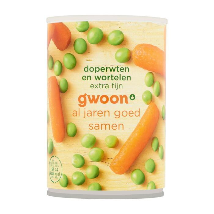 g'woon Doperwten en wortelen extra fijn (400g)